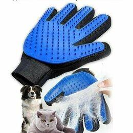Груминг и уход - Силиконовая перчатка для вычесывания кошек, 0