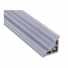Плинтусы, пороги и комплектующие - Плинтус угловой пласт., серый Комфорт L=3050 (32мм), 0