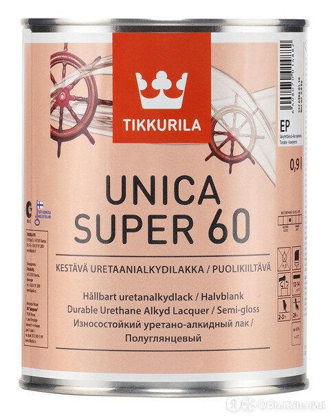 Tikkurila Unica Super / Тиккурила Уника Супер яхтный лак полуглянцевый, 2.7 по цене 2650₽ - Готовые строения, фото 0