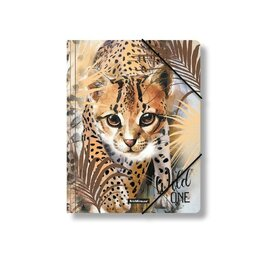 """Папки и системы архивации - ErichKrause Папка на резинке A4 ErichKrause """"Wild Cat"""", 5 мм, 550 мкм, с рису..., 0"""