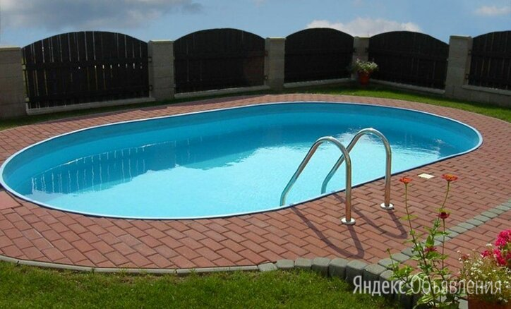 Морозоустойчивый бассейн ЛАГУНА 4,9 х 2,74 х 1,25 м овальный по цене 46800₽ - Бассейны, фото 0