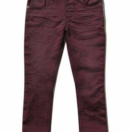 Джинсы - Бордовые джинсы для мальчика Англия, 0
