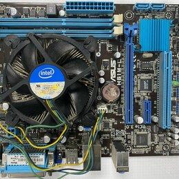 Материнские платы - Материнская плата S-1155 Asus H61M-C + процессор i3 3220 + кулер б/у, 0