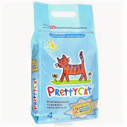 Наполнители для туалетов - Наполнитель впитывающий для кошачьих туалетов PRETTYCAT AROMA FRUIT 4кг , 0