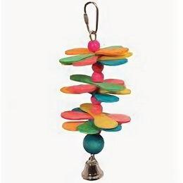Игрушки и декор  - Игрушка для мелких птиц «Шарик с якорем и колокольчиками» , 0