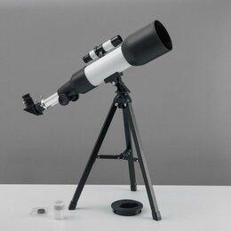 Бинокли и зрительные трубы - Телескоп настольный 90 кратного увеличения, бело-черный корпус, 0