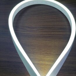 Светодиодные ленты - Гибкий неон 12 В, 6*12 мм, кратность реза 1 см. Белый холодный. Премиум класс., 0