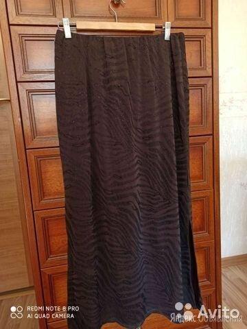 Юбка длинная трикотажная с люрексом. Размер 48-50 по цене 1300₽ - Юбки, фото 0