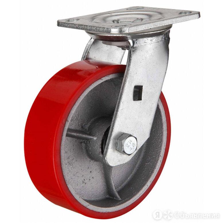 Большегрузное полиуретановое поворотное колесо MFK-TORG SCP63 по цене 909₽ - Грузоподъемное оборудование, фото 0