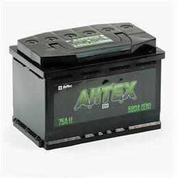 Аккумуляторы и комплектующие - Аккумулятор Aktex ECO 75 Ач 580А обратная полярность, 0
