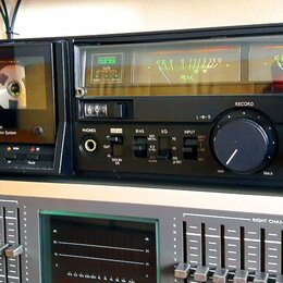 Музыкальные центры,  магнитофоны, магнитолы - Кассетная дека Aurex (Toshiba) PC-X66AD (прямой привод), 0