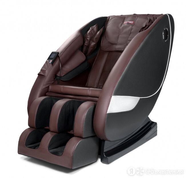 Массажное кресло VictoryFit VF-M98 цвет коричн/серый по цене 101900₽ - Устройства, приборы и аксессуары для здоровья, фото 0