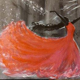 Картины, постеры, гобелены, панно - Картины фламенко акрилом 20 на 30 см, 0
