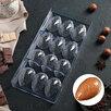 Форма для шоколада «Шоколадное яйцо», 27,5×13,5 см, 12 ячеек (3,6×5,7×1,5 см) по цене 620₽ - Формы для льда и десертов, фото 0