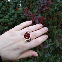 Кольца и перстни - Большое готическое кольцо с красным Гранатом., 0