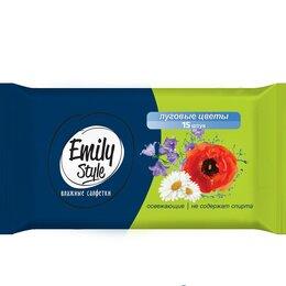 Влажные салфетки - Салфетки влажные универсальные Emily Style Луговые цветы 15шт, 0