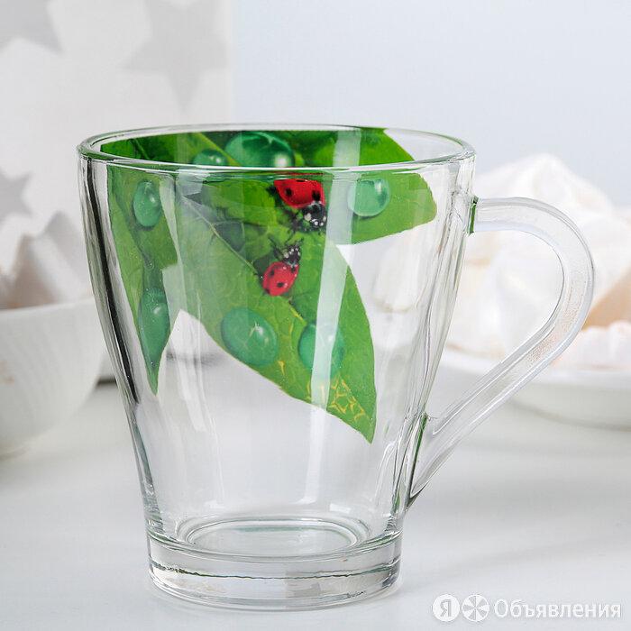 Кружка для чая «Живая природа. Зелёный лист», 250 мл по цене 238₽ - Посуда, фото 0