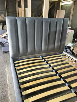 Кровати - Кровать Полосы с ПМ двуспальная 140*200, 0
