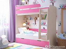 Двухъярусная кровать ЛегкоМаркет Юниор-5 по цене 23490₽ - Кровати, фото 0