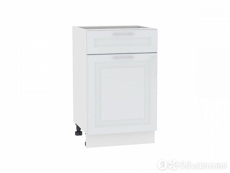 Шкаф нижний с 1-ой дверцей и ящиком Ницца Royal Н 501 Blanco-Белый по цене 5236₽ - Мебель для кухни, фото 0