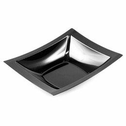 Тарелки - Тарелка глубокая 400 мл, 19,5*16,2 см черный пластик, уп/10 шт, Garcia de Pou..., 0