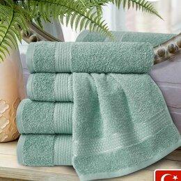 Полотенца - 4 махровых полотенца Марракеш, цвет голубая ель, 100% хлопок, 0