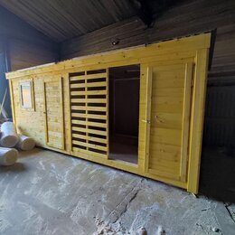 Готовые строения - Бытовка 6х2.30 с дровником А-694, 0