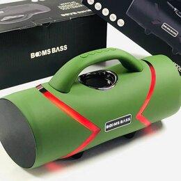 Портативная акустика - Портативная колонка BOOMS BASS L20 с неоновой подсветкой Зеленая Новинка, 0