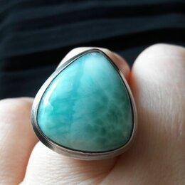 Кольца и перстни - Кольцо с ларимаром в серебре, 0