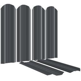 Заборы, ворота и элементы - Штакетник металлический ЭКО-М 95мм RAL7024/7024 Серый Графит 2-х сторонний, 0