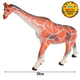 Игрушки  - Игрушка Жираф, эластичная поверхность с шероховатостями, наполнитель арт.JB02..., 0
