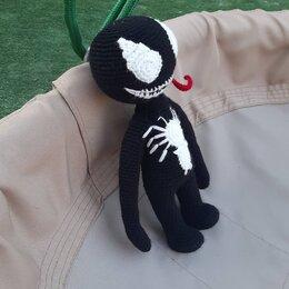 Куклы и пупсы - Вязаная игрушка ВЕНОМ, 0