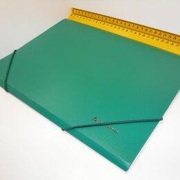 Канцелярские принадлежности - ПАПКА на резинке А4 Brauberg зеленая 221621, 0