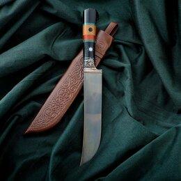 Ножи кухонные - Нож Пчак Шархон - рукоять эбонит, клинок 17см, 0