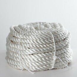 Аксессуары - Канат кручёный ПАТ, d=20 мм, 50 м, цвет белый, 0