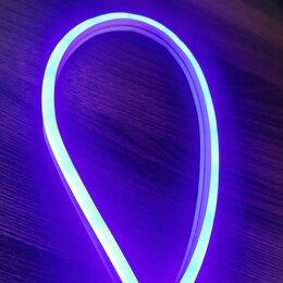 Светодиодные ленты - Синий гибкий неон 12 В, 6*12 мм, кратность реза 25 мм. Эконом класс., 0
