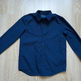 Рубашки - Рубашка для мальчика синяя, 0