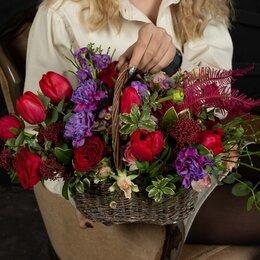Цветы, букеты, композиции - Композиция «Цветочный салют» - М (30см), 0