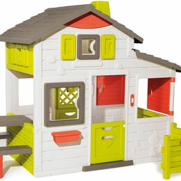 Игровые домики и палатки - Детский игровой домик для друзей Smoby 810203 со звонком, 0