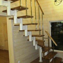 Лестницы и элементы лестниц - ЛЕСТНИЦА  НА ВТОРОЙ ЭТАЖ  МОДУЛЬНАЯ НА МЕТАЛЛОКАРКАСЕ  , 0