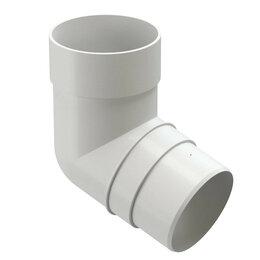 Кровля и водосток - Колено трубы 72 градуса водостока Дёке Premium RAL9003 Белый Пломбир, 0