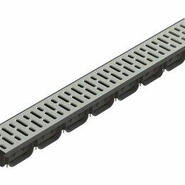 Железобетонные изделия - Лоток водоотоводный S'park ЛВ-10.14.07-ПП пластиковый с решеткой стальной о, 0