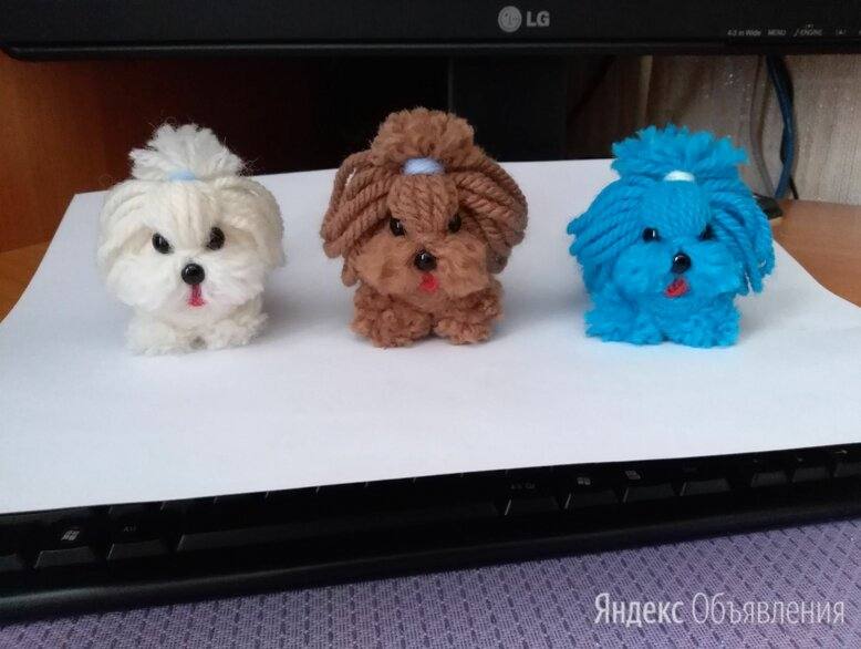 Очаровательные собачки игрушка, сувенир по цене 300₽ - Рукоделие, поделки и сопутствующие товары, фото 0