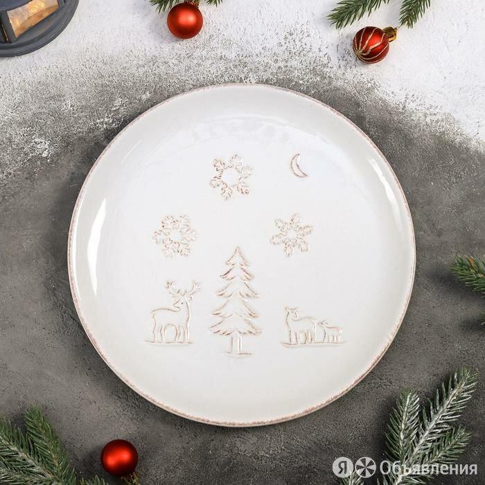 Тарелка обеденная Доляна «Зимняя сказка», 26,5×2,5 см по цене 1378₽ - Посуда, фото 0