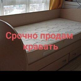Кровати - Срочно Продам кравать, красивую, мягкую, удобную. Длина 1,96 см, ширина 1 метр, 0