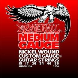 Струны - 2204 Ernie Ball Nickel Wound Medium никель 13-56. Доставка, 0