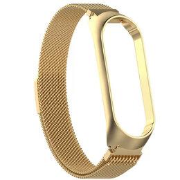 Ремешки для умных часов - Ремешок для Xiaomi Band 3/4 Milanese золото, 0