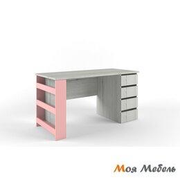Компьютерные и письменные столы - Стол с тумбой Тумба Справа розовый «Нью Тон», 0