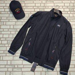 Куртки - Ветровка мужская синяя, 0