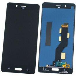 Дисплеи и тачскрины - Дисплей для Nokia 8 (TA-1004/TA-1012/TA-1052) с тачскрином (черный), 0